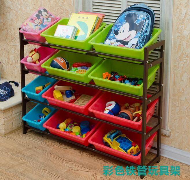 Children's toys finishing rack storage rack shelving storage rack baby nursery toy shelf storage box new wall mounted storage bin rack tool parts garage unit shelving organiser box