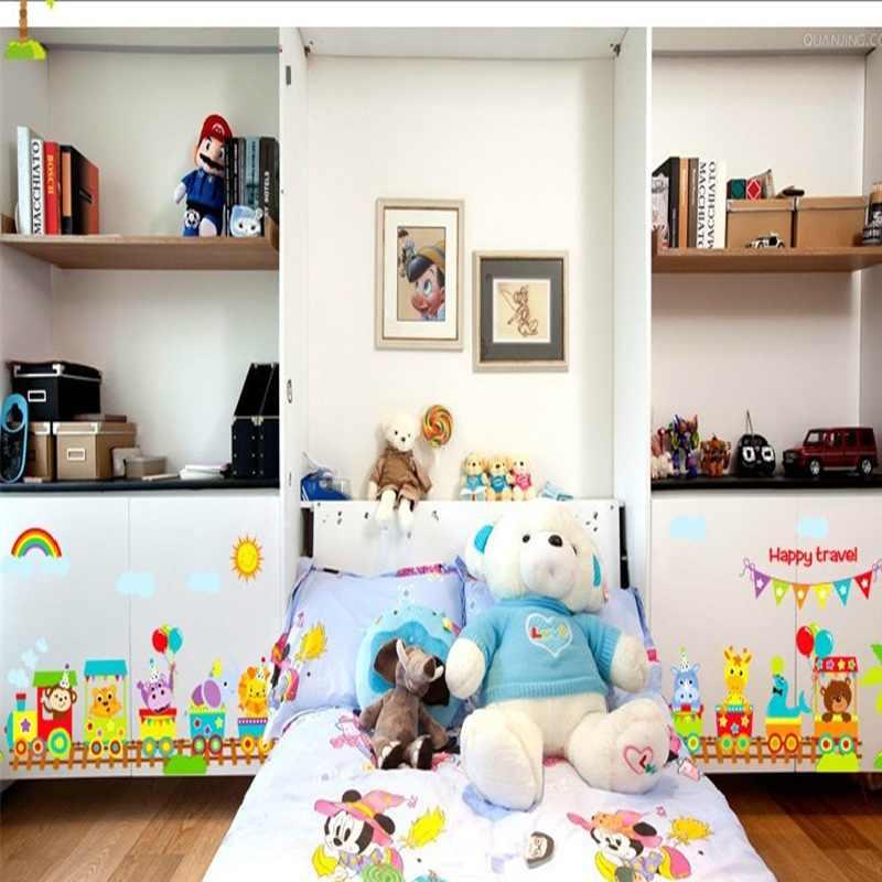 Joyful Train Wall Sticker Cartoon Wallpaper For Baby Bedroom Children Home Decals Diy Adhesive Pvc Decoration Art Posters