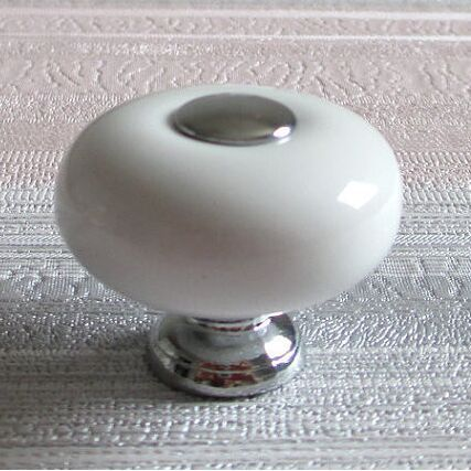 silver kitchen cabinet knobs 32mm white dresser knob handles ceramic kitchen cabinet 26126