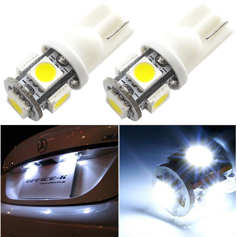 20PCS Led Car DC 12v Lampada Light T10 5050 Super White 194 168 w5w T10 Led Parking Bulb Auto Wedge Clearance Lamp car led 1pcs t10 194 w5w dc 12v canbus 6smd 5050 silicone shell led lights bulb no error led parking fog light auto car styling