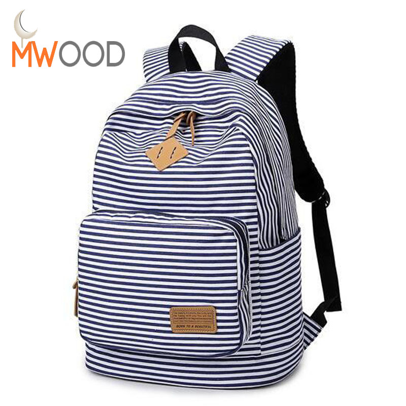 High Quality Women Canvas Backpacks Stripe Bags School Bag College Designer Female Backpack Preppy Style Bolsas Mochilas XJ251 men canvas backpack women shoulder bag korean middle school students leisure computer backpacks bag man bolsas mochilas teenager