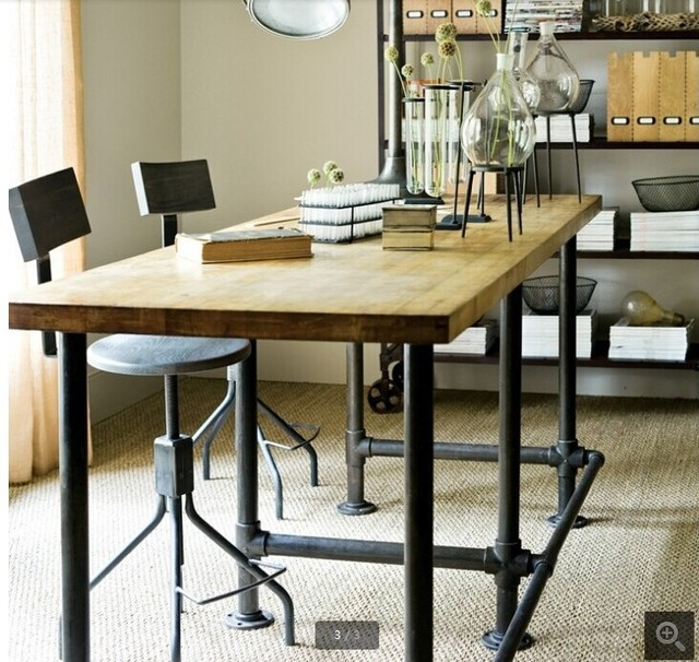 Office Coffee Bar Furniture: American Wrought Iron Tables And Chairs Restaurant Retro