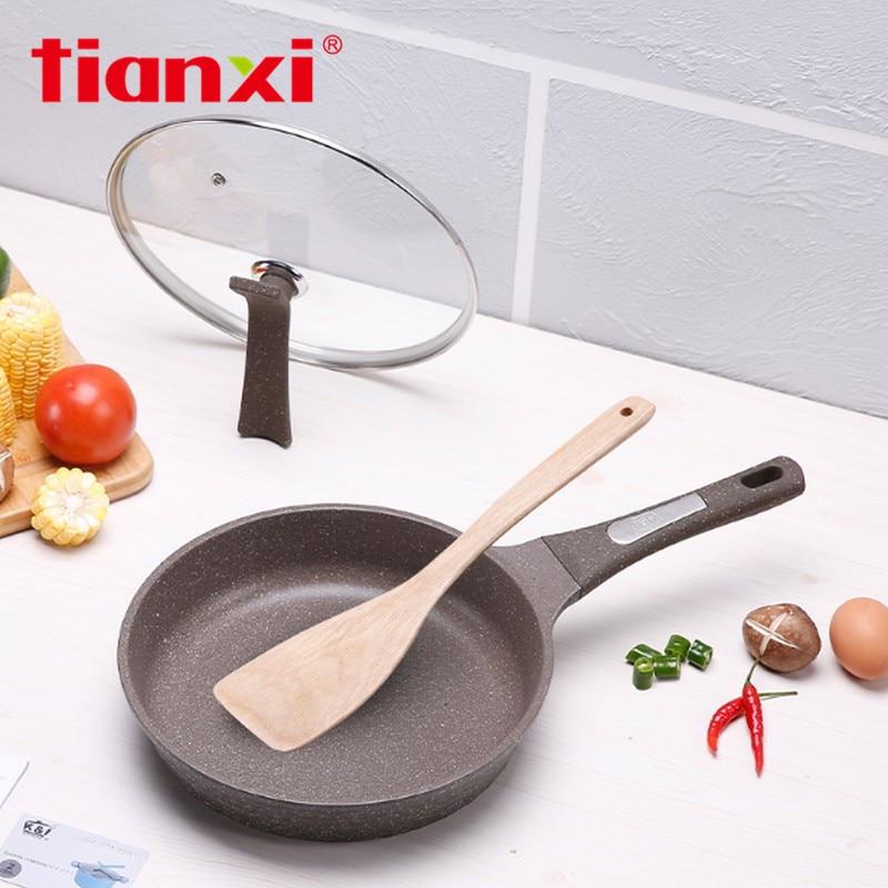 Korean Stone Tower Pan 24-26 Cm Frying Pans Non-Stick Pan No Oil Frying Home Cooker Nonstick Pans Cooktop Gas Cooker Universal