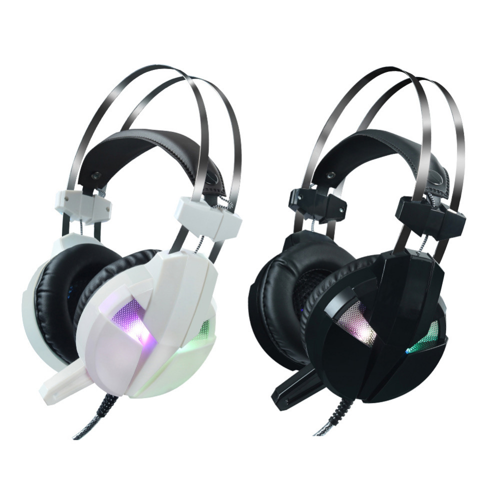 2018 New Stainless Steel Competitive Game Bass Luminous Headset Earphone Headphone with Microphone High-end Cafe Game Headset enchanters end game
