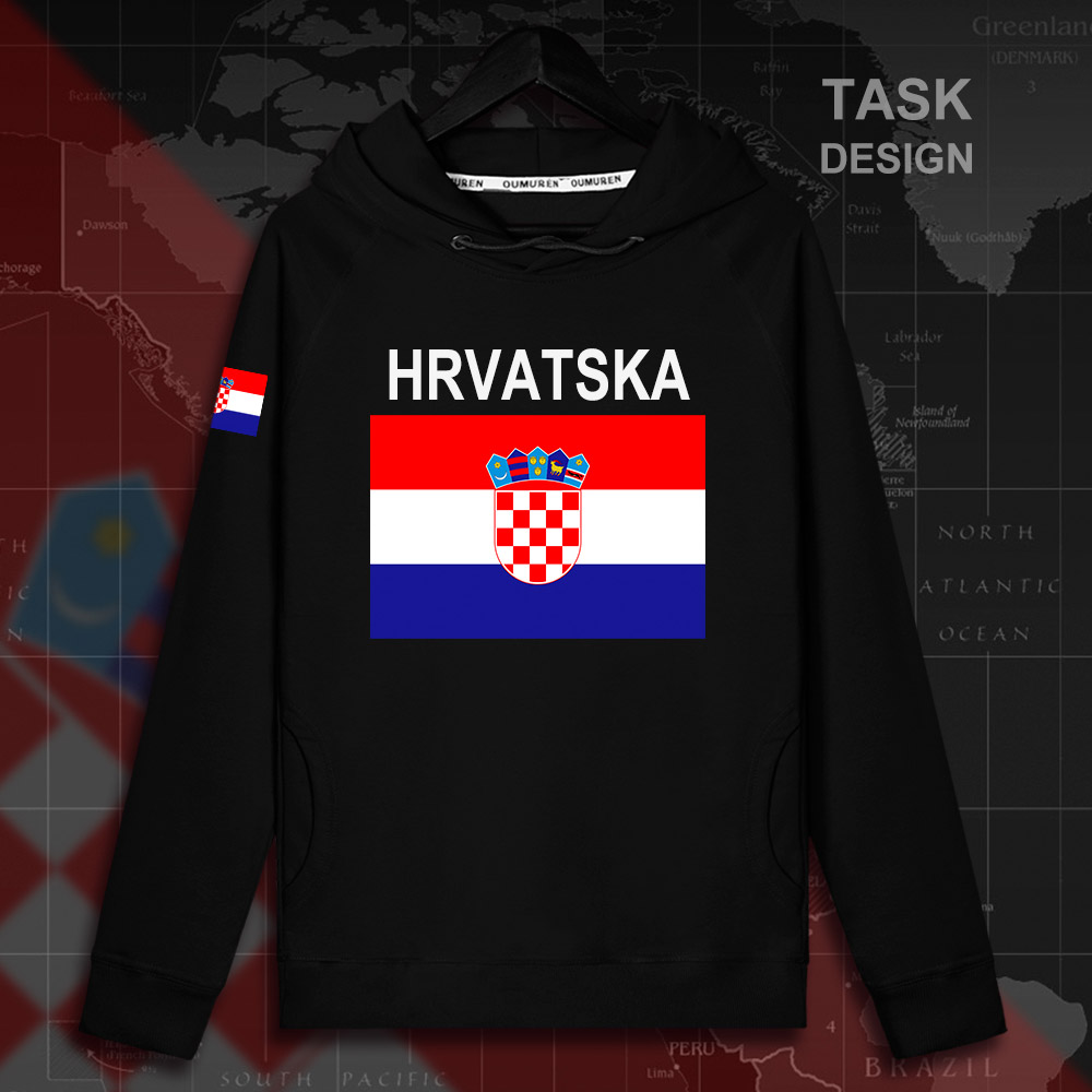 Croatia Hrvatska Croatian HRV Croats mens hoodie pullovers hoodies men sweatshirt streetwear clothing hip hop tracksuit nation