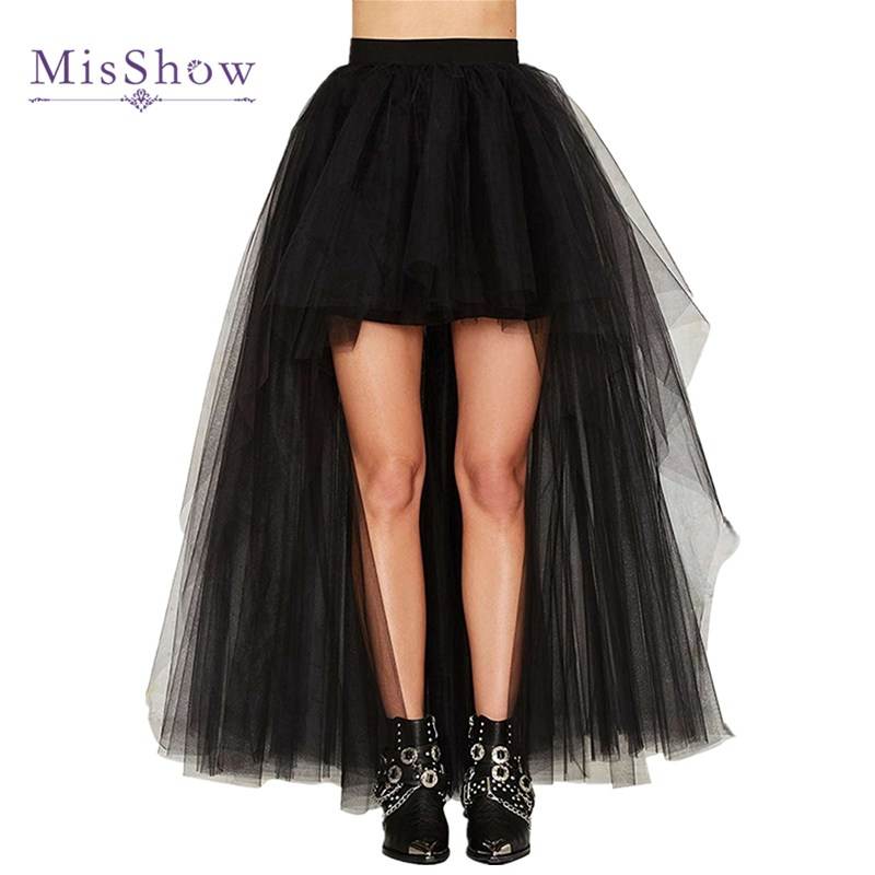 2019 High Quality Tulle Skirt Sexy High Low Wedding Bridal Petticoat Black White Red Underskirt Wedding Accessories