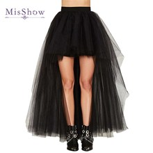 2019 high quality Tulle Skirt Sexy High Low Wedding Bridal Petticoat Black White Red underskirt Accessories