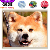 GGDB Crystal DIY Diamond Paintings Fox Lovely Dog Full Square Pet Paintings 3D Cross Stitch 5D
