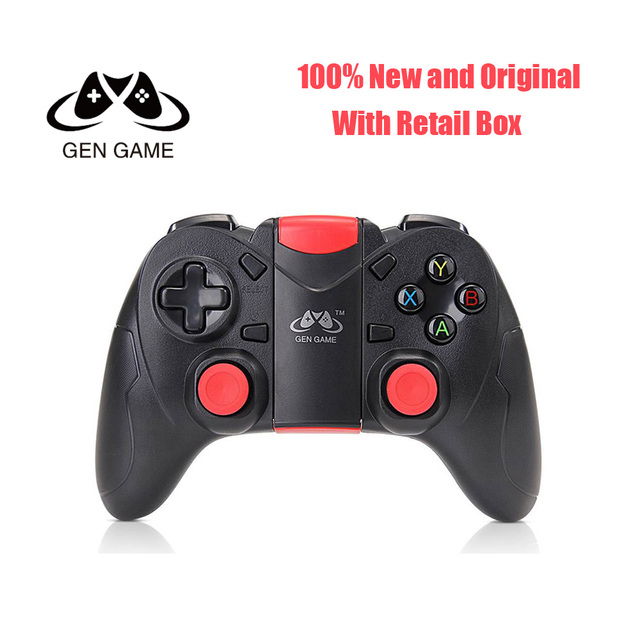 US $16 0 40% OFF|Gen Game S6 Wireless Bluetooth Gamepad Bluetooth 3 0  Joystick with Receiver Game Controller for Android Smartphone Tablet PC -in