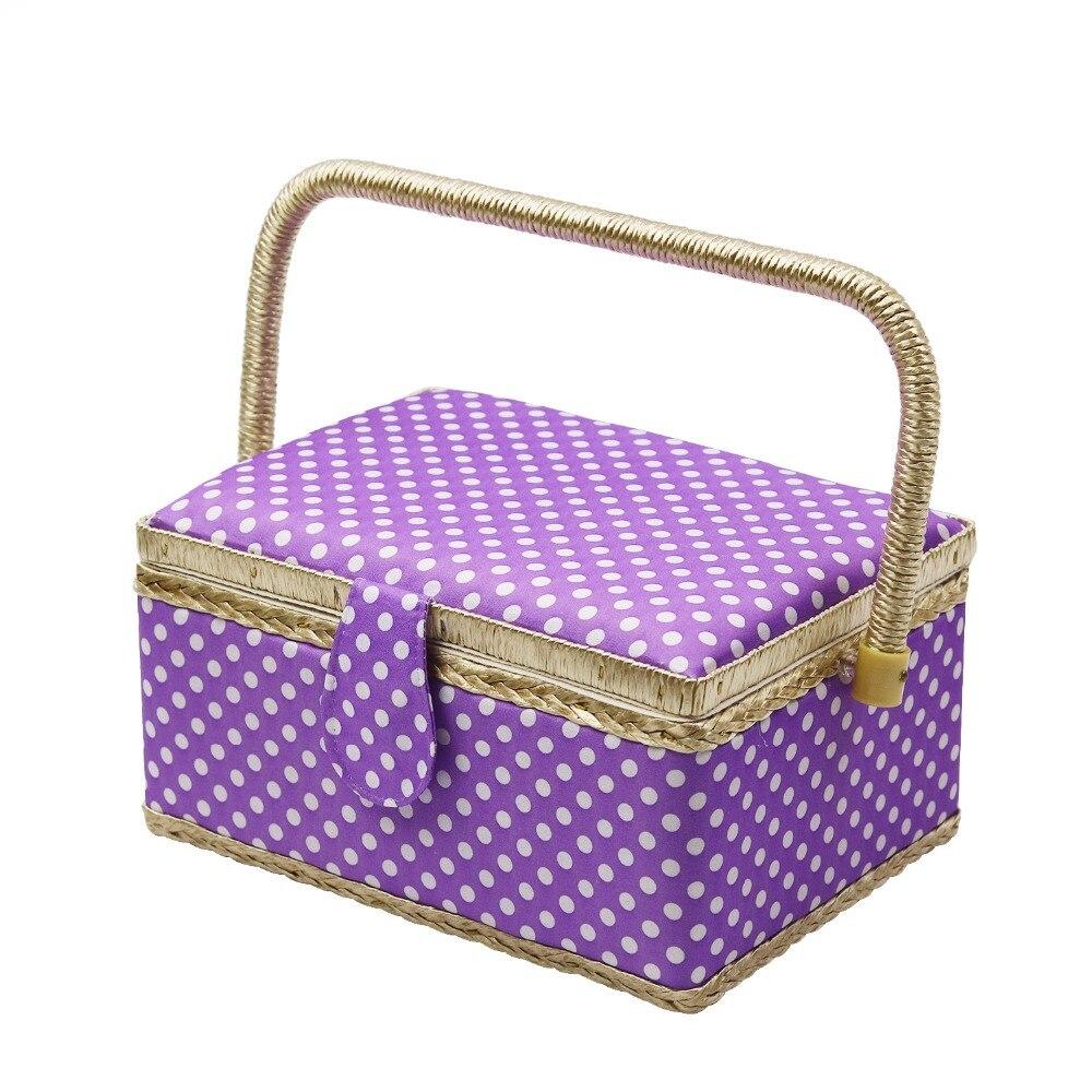 Cestini Da Lavoro Per Cucito us $25.34 22% di sconto|bellezza 5 colori kit da cucito tessuto di cestino  di immagazzinaggio grande capacità di strumenti di cucito scatola da cucito