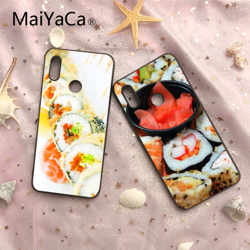 MaiYaCa Sushi On Sale Luxury Cool Phone Gift Case For Xiaomi 6 6plus 6X 8 8SE MI Note2 3 Redmi Note 4 5 Redmi5 5plus