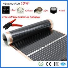 Film chauffant à infrarouge, 10 m2, feuille de carbone, contrôle par application, Thermostat, Wifi, bon pour la santé humaine, cadeau gratuit