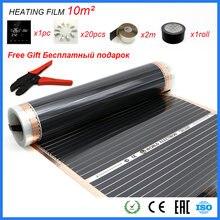 Película de aquecimento alicate wifi, controle do aplicativo termostato 10m2 folha de carbono bom para humano infravermelho conjunto de filme de aquecimento