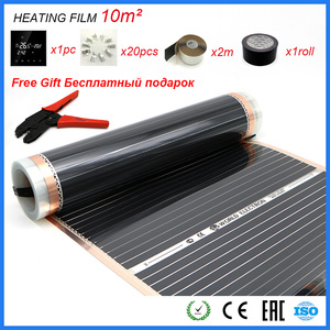 Image 1 - Free Gift Heating Film Plier Wifi APP Control Thermostat 10m2 Carbon Foil Good to Human Healthy Infrared Heating Film Set