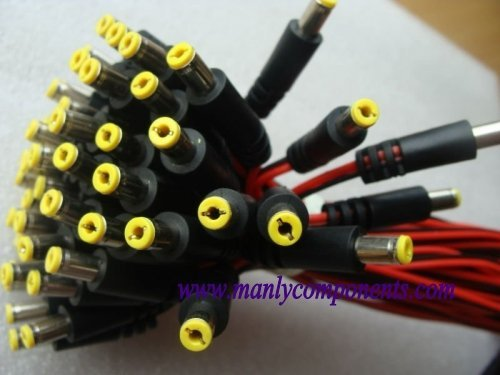 200pcs  5.5*2.1mm Male Plug 12V DC Cable Power Copper Cord DC Lead for LED or CCTV Hot Sale