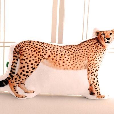 3D léopard en peluche oreiller poupée simulation Guépard jouet cadeau sur 60x40 cm