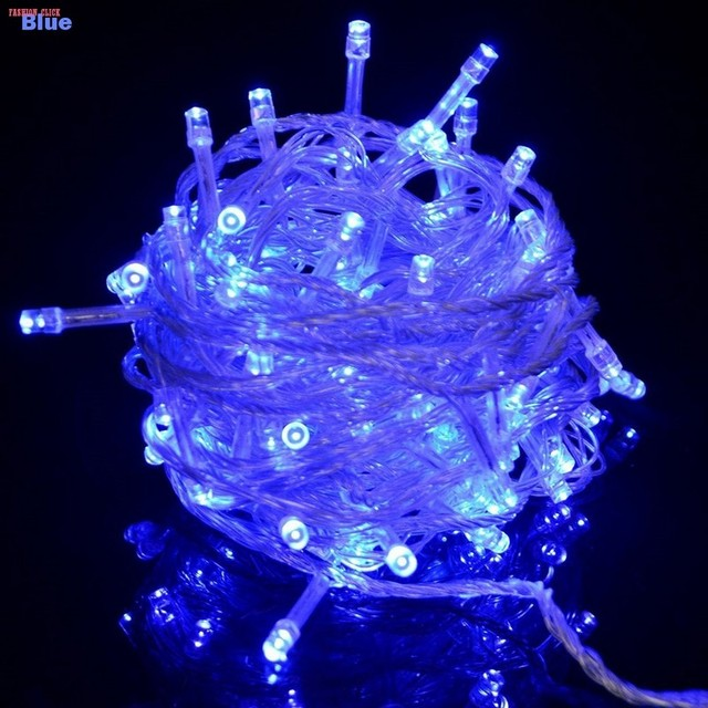 REINO UNIDO Plugue À Prova D' Água 20 M 200 Lâmpadas LED Cordas Luzes da Decoração do Casamento Do Feriado de Natal Luzes Ao Ar Livre Luces Navidad 8 AM