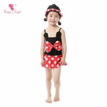 Baby girls 2-12 years old or above children bikini white polka dot bow swimwear shorts popular factory wholesale