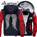 5XL New Arrival The Walking Dead Hoodies Zombie Daryl Dixon Wings Winter Thicking Fleece Mens Sweatshirts Warm Jacket for Male