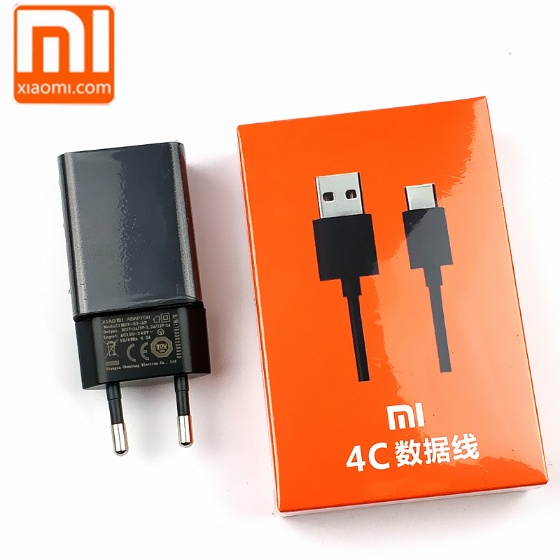 Xiaomi Charger Mi 5 5X 5A mi5 mix max 2 a1 Phone Qualcomm Quick Charge 2.0 Usb Wall Adapter Fast Charging Type C Cable