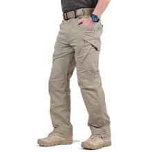 Męskie moda Cargo spodnie bojowe wojskowe spodnie bawełniane SWAT Army spodnie typu casual IX9 mężczyzna miasto taktyczne spodnie wiele kieszenie tanie tanio Mężczyźni Pełnej długości Safari Style Suknem Poliester COTTON Midweight Cargo pants CZ000004578544776 Luźne Elastyczny pas