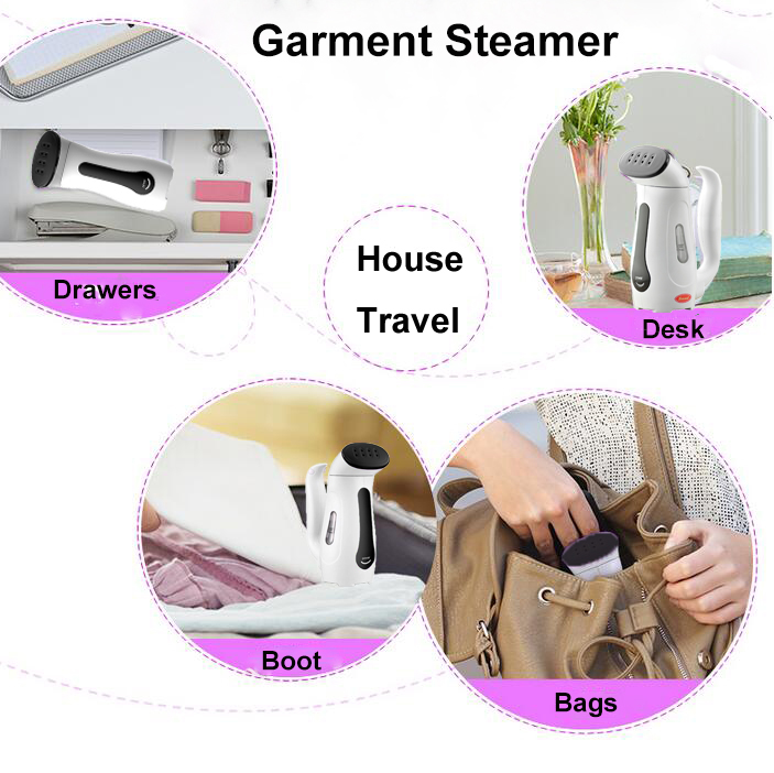 Smad 110V 220V Mini Portable Handheld Garment Steamer for Clothes Travel Compact Electric Iron Steam Steamer with Adapter Plug