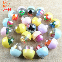 48*56MM Transparent Connexion Surprise Twisted Egg Ball Funny Egg Twisted Egg Game Machine Clap Le Dedicated Twisted Egg Toys