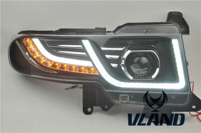 VLAND Usine pour phare de Voiture pour FJ Cruiser LED phare 2007 2008 2014 LED head light H7 Xénon avec grille Nouveau design