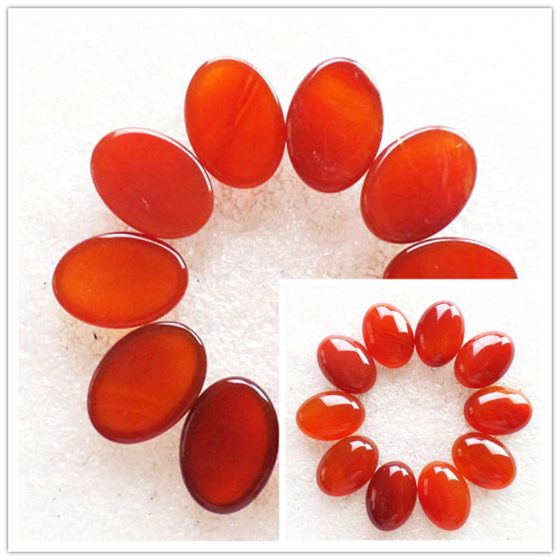 (10 pieces/lot) Wholesale Natural Red Agates Oval CAB Cabochon 18x13x6mm Free Shipping Fashion Jewelry RO2005
