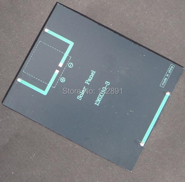BUHESHUI  2W 6V Epoxy Plate Solar Cell Polycrystalline Solar Panel Solar Module DIY Solar Charger 136*110*3MM Free Shipping