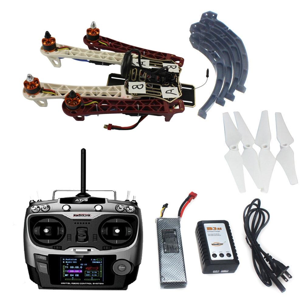 F02192-V JMT Assembled HJ 450 450F 4-Aix RFT Full Kit with APM 2.8 Flight Controller GPS Compass No Gimbal