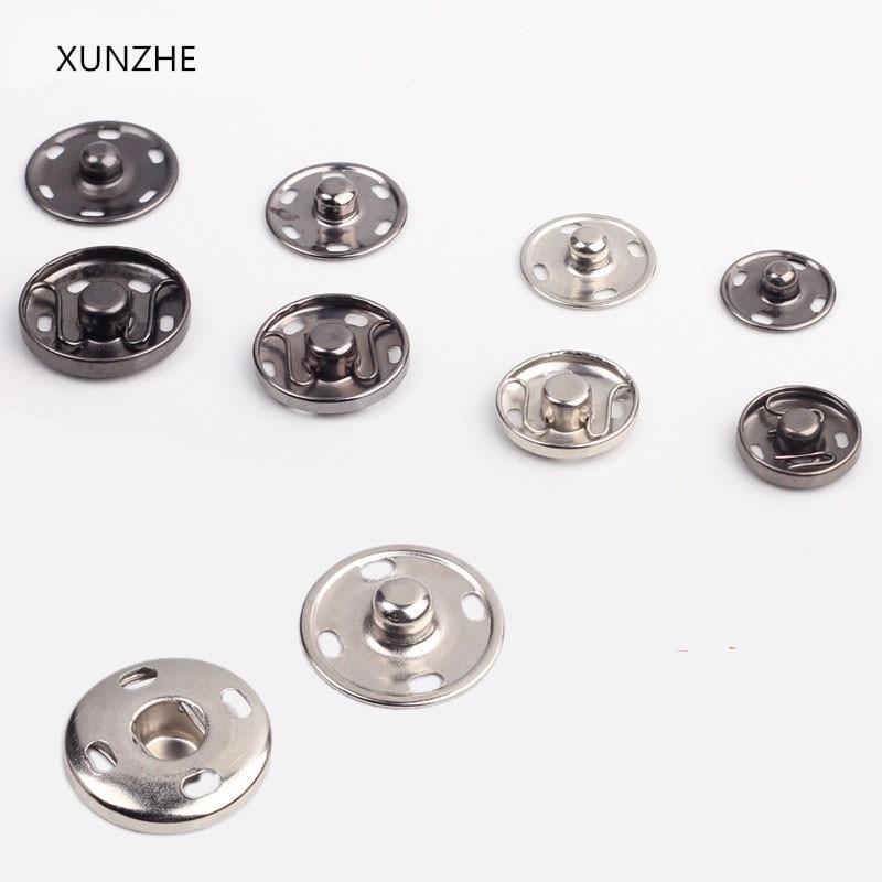 15mm x 4 sets Nickel Hemline Sew On Snaps