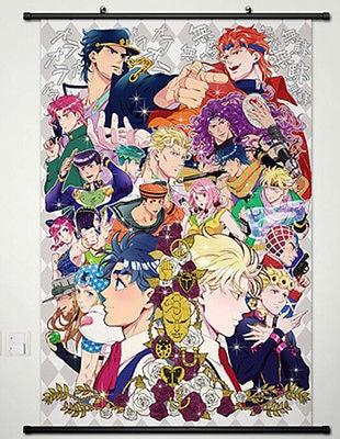 Домашний декор плакат прокрутки JOJO приключения Джоджо Джотаро Японии новый 051