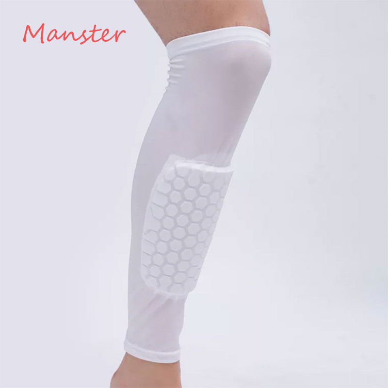 1PCS Elastic Knee Calf Support Football Leg Sleeve Calf Compression Sleeves Cycling Soccer Socks Support Football Game World Cup