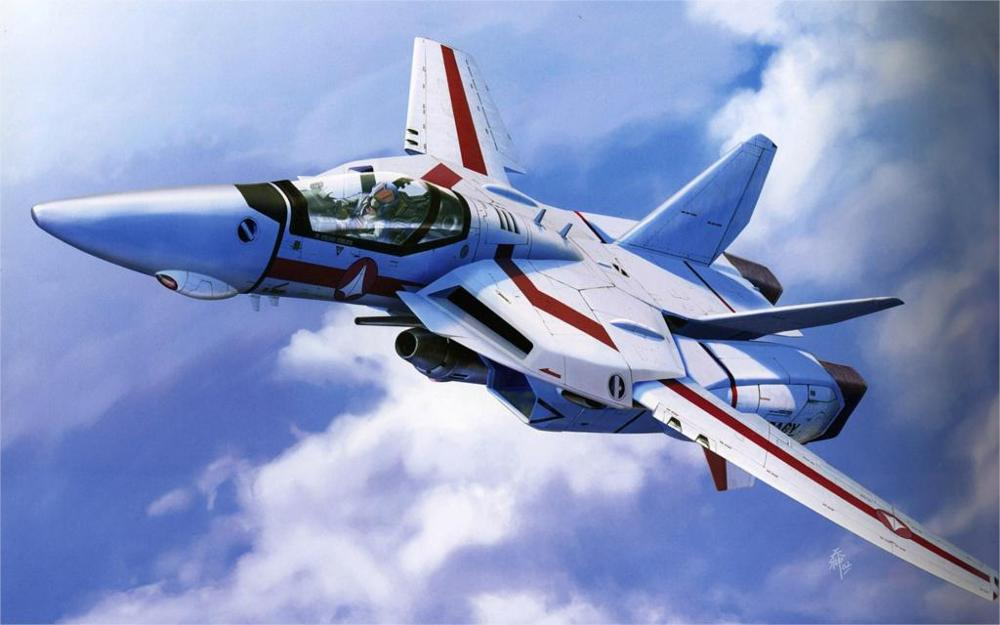 Aircraft Macross Military Valkyrie Robotech Jet Aircraft 4 Sizes Home Decoration Canvas Poster Print