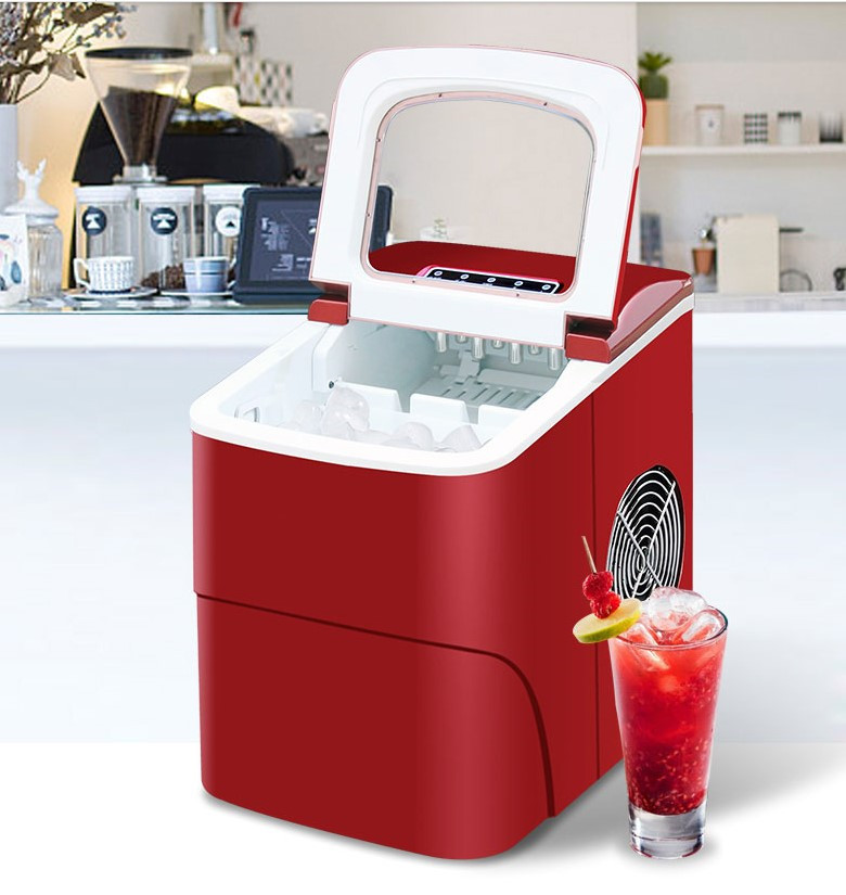 15KG Commercial Household Ice Maker Milk Tea Shop Cafe Cold Drink Shop Ice Cube Machine Stainless