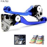High Quality Blue Handlevers Foldable Dirt Bike CNC Pivot Brake Clutch Levers For Yamaha DT230LANZA 1997