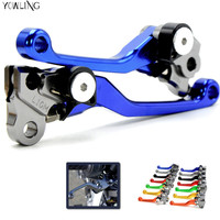 High Quality Blue Handlevers Foldable Dirt Bike CNC Pivot Brake Clutch Levers For Yamaha DT230LANZA 1997