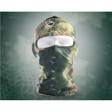 Snake Camouflage Stretch Tactical Airsoft Hunting Bike Motorcycle Ski Cycling UV Full Face Mask Warm Neck Cycling Mask