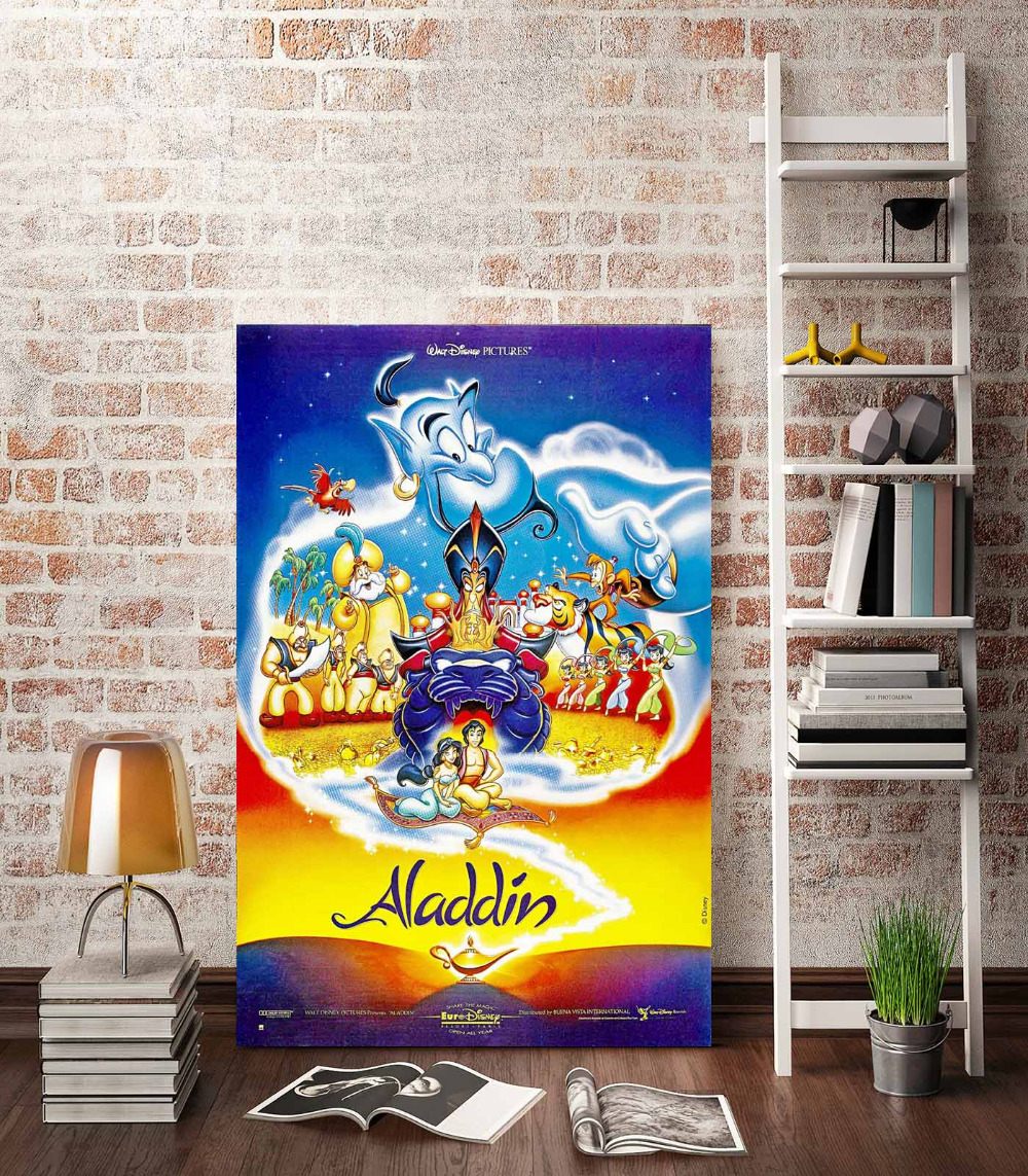 Bedroom wall with posters - Hd Canvas Print Cartoon Movie Posters Magic Lamp Jasmine A989 Home Decoration Living Room Bedroom Wall Pictures Art Painting In Painting Calligraphy