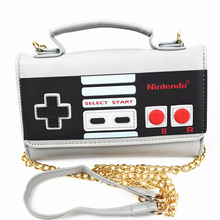 FVIP Hot Sell Nintendo Design Hand Bag Women Messenger Bags Lady Rivet Chain Fashion Leather Shoulder Bag Girl Crossbody Bags