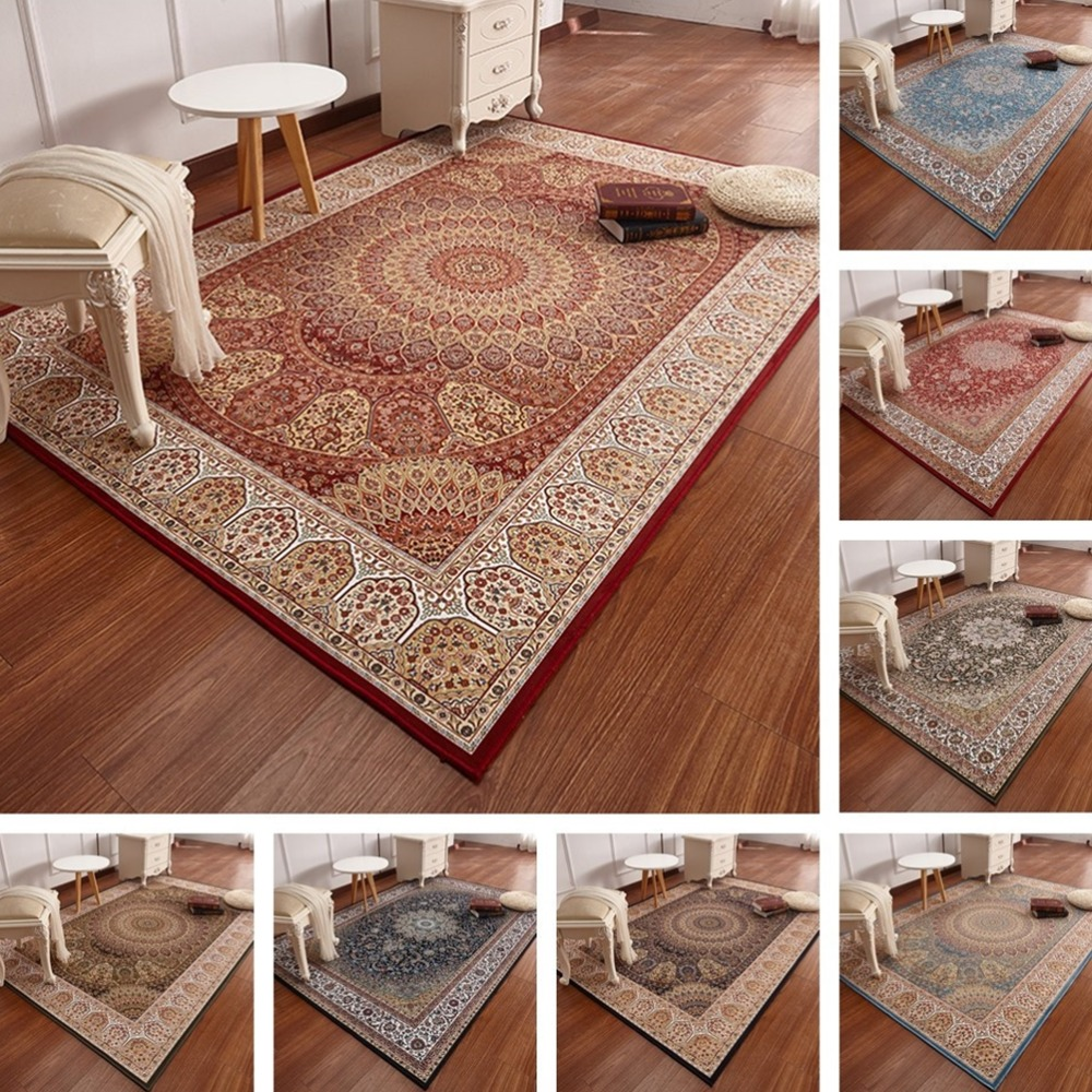 Persian Carpets For Living Room Home Rug Soft Turkish Bedroom Carpet Vintage Sofa Coffee Table Floor Mat Study Room Area Rug
