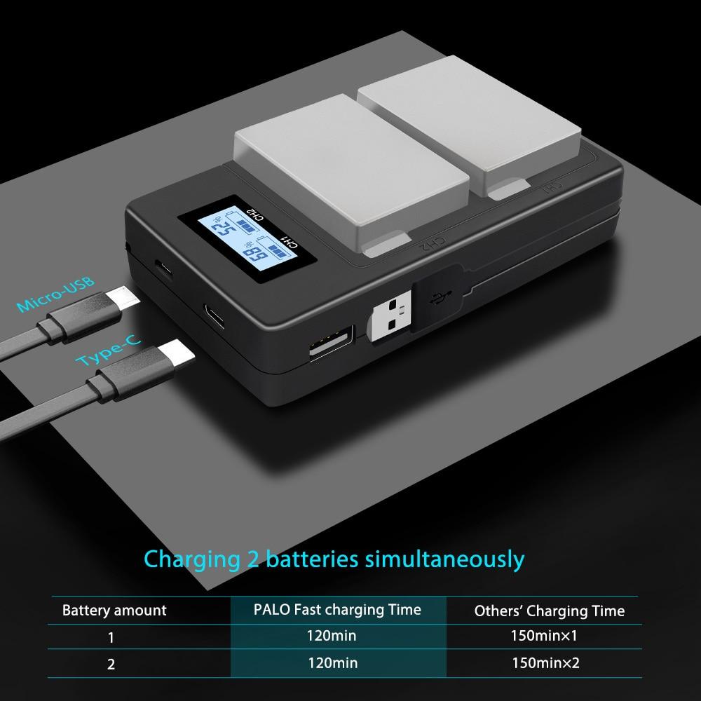 2Pc-LP-E8-LPE8-LP-E8-Camera-Battery-Bateria-Batterie-AKKU-LCD-USB-Charger-For-Canon