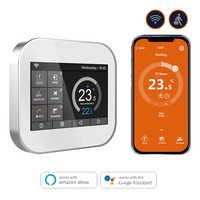 Wifi touch termostato per il riscaldamento dell'acqua/valvola del radiatore da Inglese/Tedesco/Polacco/Ceco/Italiano/ spainish di controllo da smart phone