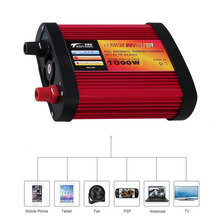 Newest 300W/500W/1000W Car Power Inverter DC 12V to AC 110V with 2x Charging USB Ports + AC Outlet Sine Wave Power Inverter Hot