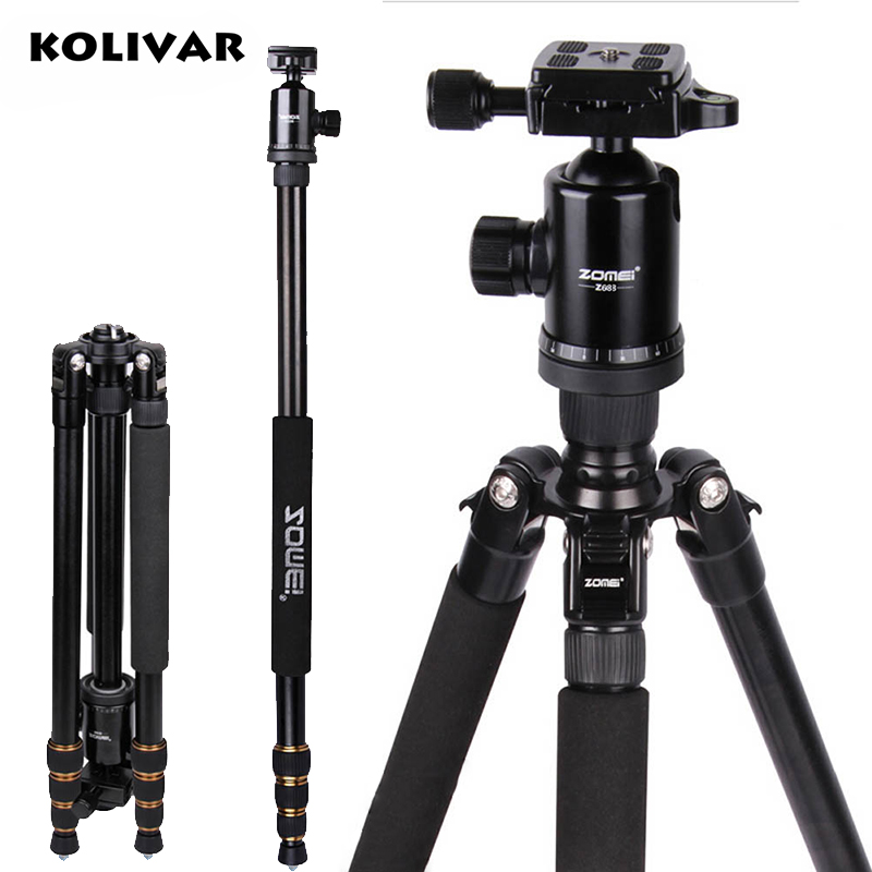 KOLIVAR Zomei Z688 Aluminum Professional Tripod Monopod + Ball Head For DSLR camera Portable SLR Camera stand / Better than Q666 цена