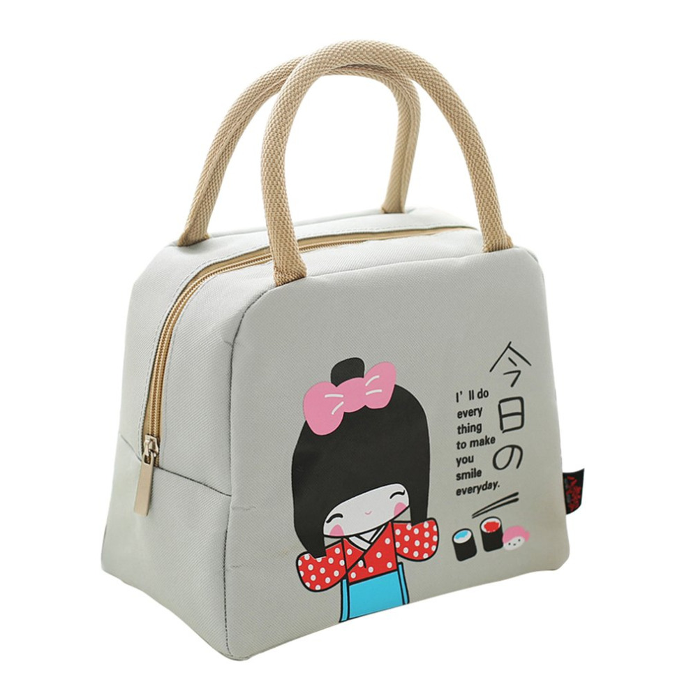 OUTAD New Fashion Portable Insulated canvas lunch Bag Thermal Food Picnic Bags for Women kids Men Cooler Lunch Box Tote