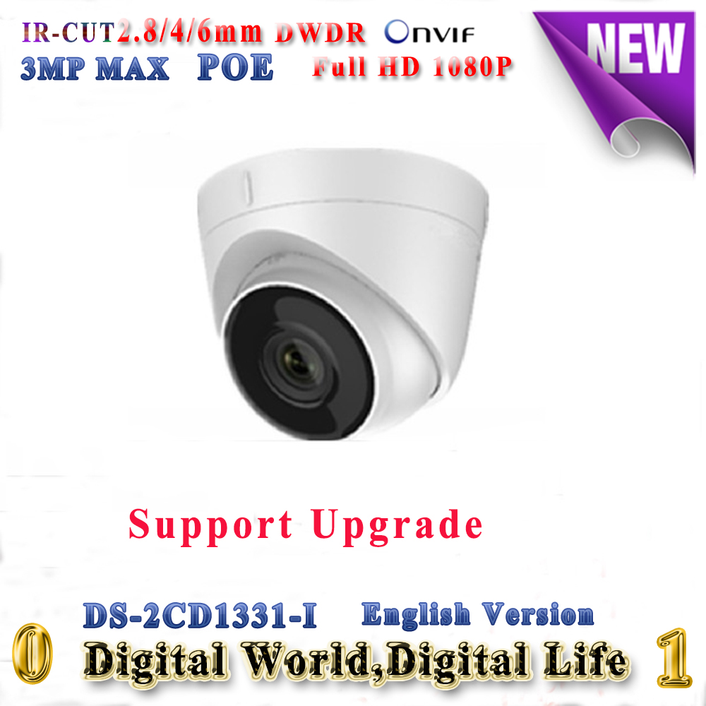 Newest English version DS-2CD1331-I replace DS-2CD2335-I 3MP 1080P mini dome ip camera onvif POE H.264+ IP67 security camera