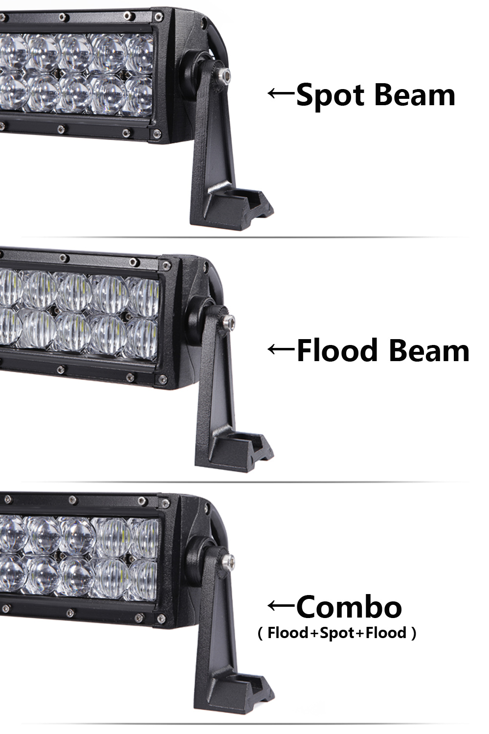 Image 5 - XuanBa 5D 52 Inch 500W LED Light Bar For 4x4 Off Road Trucks SUV ATV 4WD 12V 24V Combo 42 Inch 400W Led Work OffRoad Bar Lights-in Light Bar/Work Light from Automobiles & Motorcycles