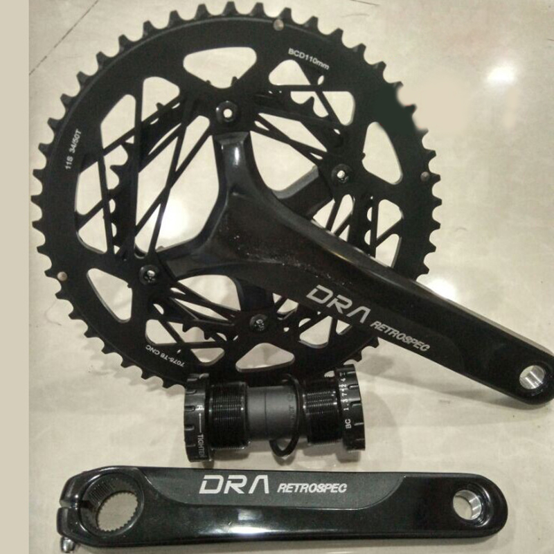 Bike Cranksets Aluminum Alloy CNC 9Speed Bike Chainwheel 34T-50T Bicycle Cranks for Road Folding Bike Bicicleta Cycling Crank BB road bicycle crankset 7 8 9speed folding bike crank chain wheel 34t 50t cnc aluminum alloy gear tooth disc with bottom bracket